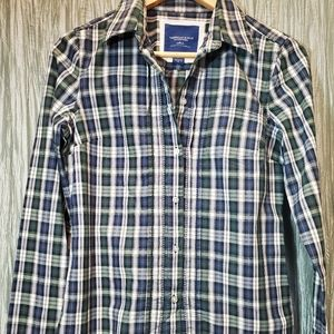 AMERICAN EAGLE OUTFITTERS Womens Plaid LongSleeve